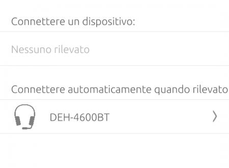 Bluetooth tra Uphone e Pioneer DEH-4700BT